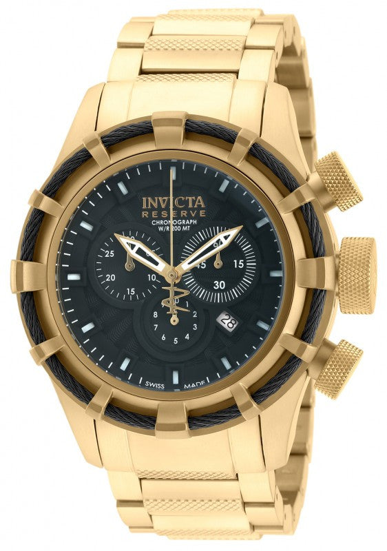 Invicta Men's Bolt Chronograph 200m Gold Plated Stainless Steel Watch 19522