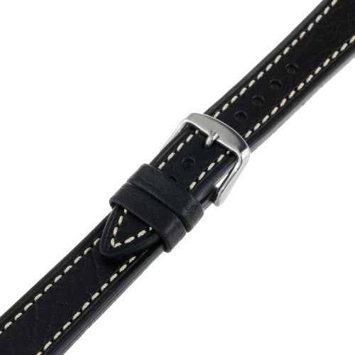 Hadley-Roma Men's MSM894RA-180 18-mm Black Genuine Leather Watch Strap