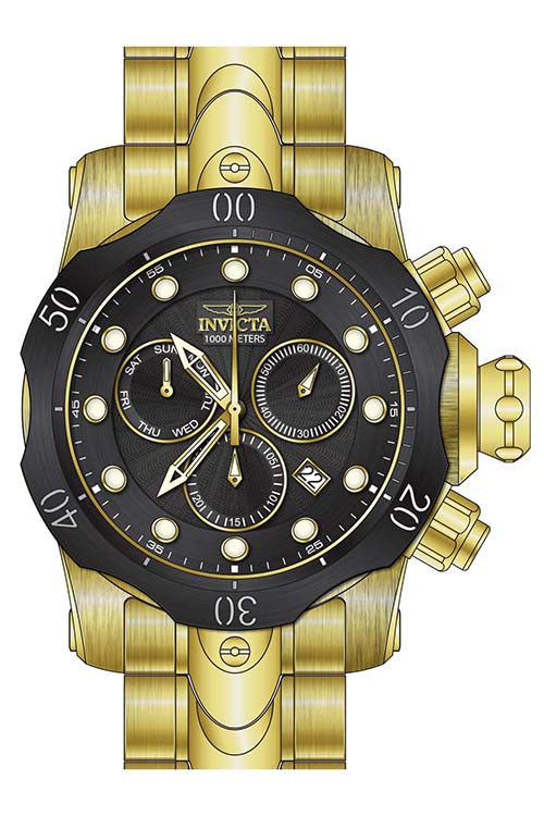Invicta Men's Venom Quartz Chronograph Black Dial Watch  23892