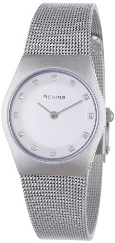 Bering Women's Milanaise Mesh Strap Silver Tone Stainless Steel Watch 11927-000