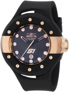 Invicta Men's 1944 S1 Rally Quartz 3 Hand Black Dial Watch