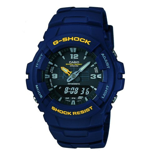 Casio G-Shock Antimagnetic Diver 200m Analog-Digital Blue Resin Watch G100-2BV