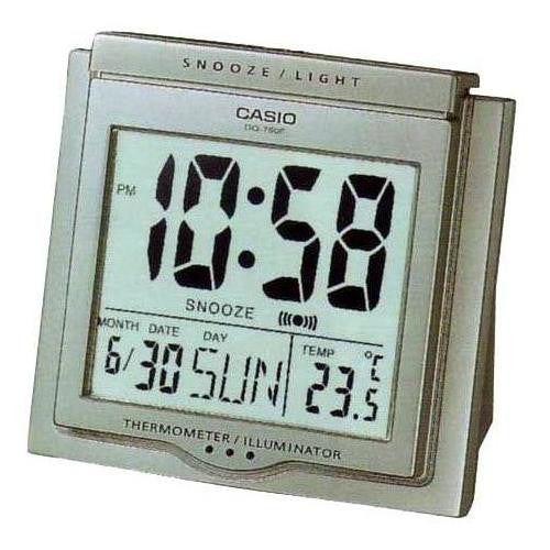 Casio Digital Auto Calendar Grey Alarm Clock DQ750F-8D