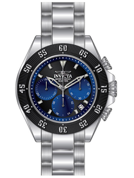 Invicta Men's Speedway Quartz Chronograph Black, Blue Dial Watch 22397