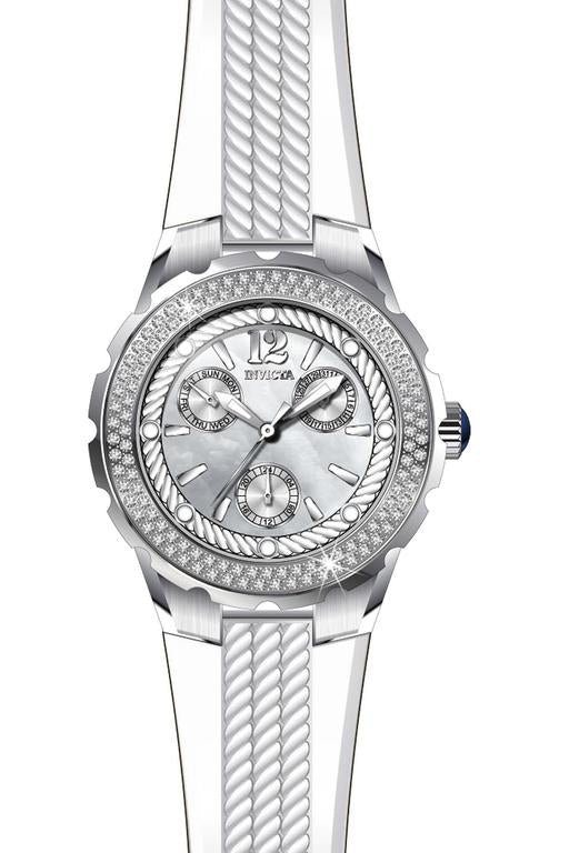 Invicta Women's 29084 Angel Quartz 3 Hand White Dial Watch