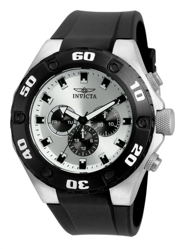 Invicta Men's Specialty Chrono Stainless Steel Black Polyurethane Watch 21403