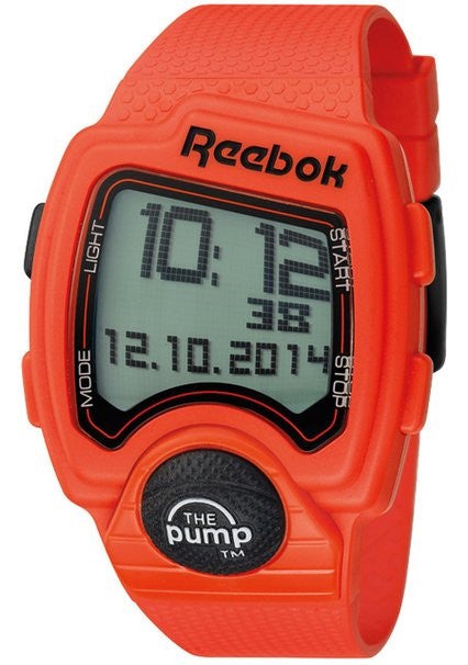 Reebok Workout Mens Silicone Alarm, Chronograph, Date Watch RC-PLI-G9-POPO-OB