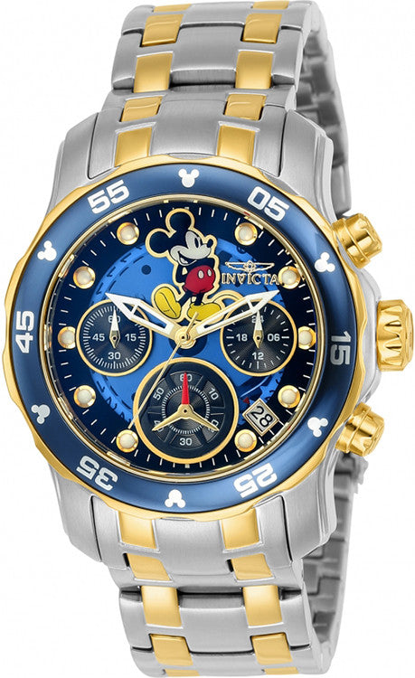 Invicta Women's Disney Chronograph Stainless Steel Blue Dial Watch 24133
