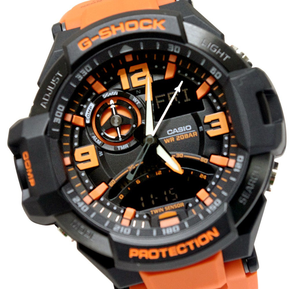 b0ef757f096 G-Shock GA-1000-4ACR GA-1000 Aviation Series Men s Luxury Watch -  Brown Orange   One Size
