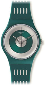 Swatch Unisex Computerion Analog Quartz Matte Dark Green Silicone Watch SUON114
