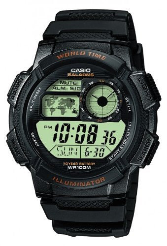 Casio Men's Digital Black Sports Watch AE1000W-1AV