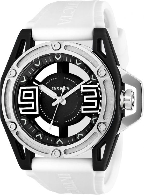 Invicta Men's 22299 Specialty Quartz 3 Hand Black Dial Watch