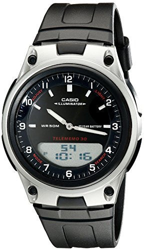 Casio Men's Analog Digital 30 Page Databank Watch AW80-1