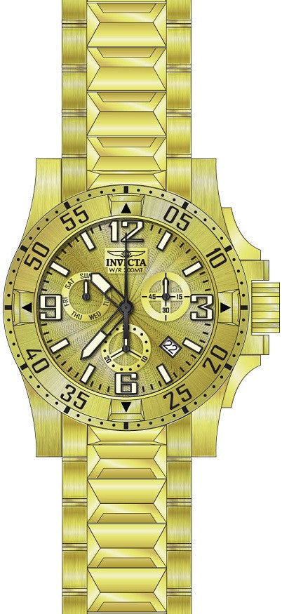 Invicta Men's Excursion Quartz Chronograph Gold Dial Watch 23902