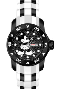 3 Hand Silicone Strap Black Dial Watch