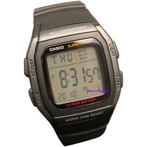 Casio Digital Watch Dual Time Alarm 50M  W96H-1BV