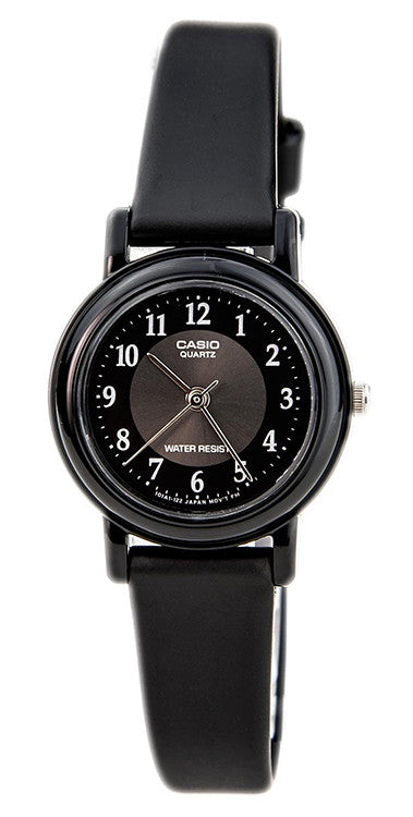 Casio Women's Analog Quartz Black Resin Watch LQ139A-1B3
