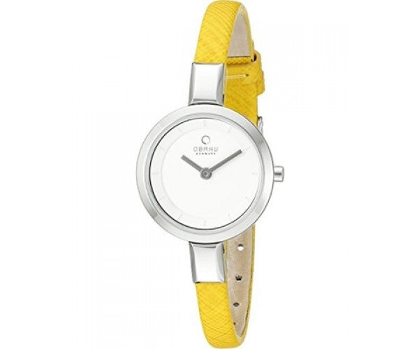 Obaku Women's Analog Display Quartz White Dial Honey Yellow Watch V129LXCIRY