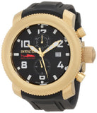 Invicta Men's Russian Diver Chronograph Black Dial Black Polyurethane Watch 1860
