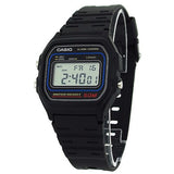Casio Men's Casual Classic Digital Alarm Black Resin Watch W59-1V