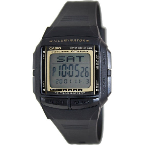 Casio Men's Multi-lingual 30 Page Databank Black Digital Watch DB36-9AV