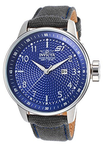 Invicta Men's S1 Rally Blue Dial Stainless Steel Grey Rifle Watch 19613