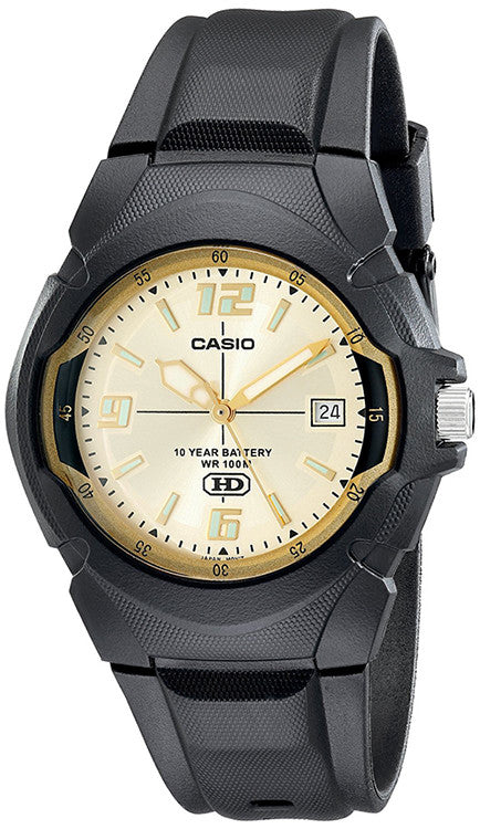 Casio Men's 10-Year Battery Life 100m Black Resin Watch MW600F-9AV