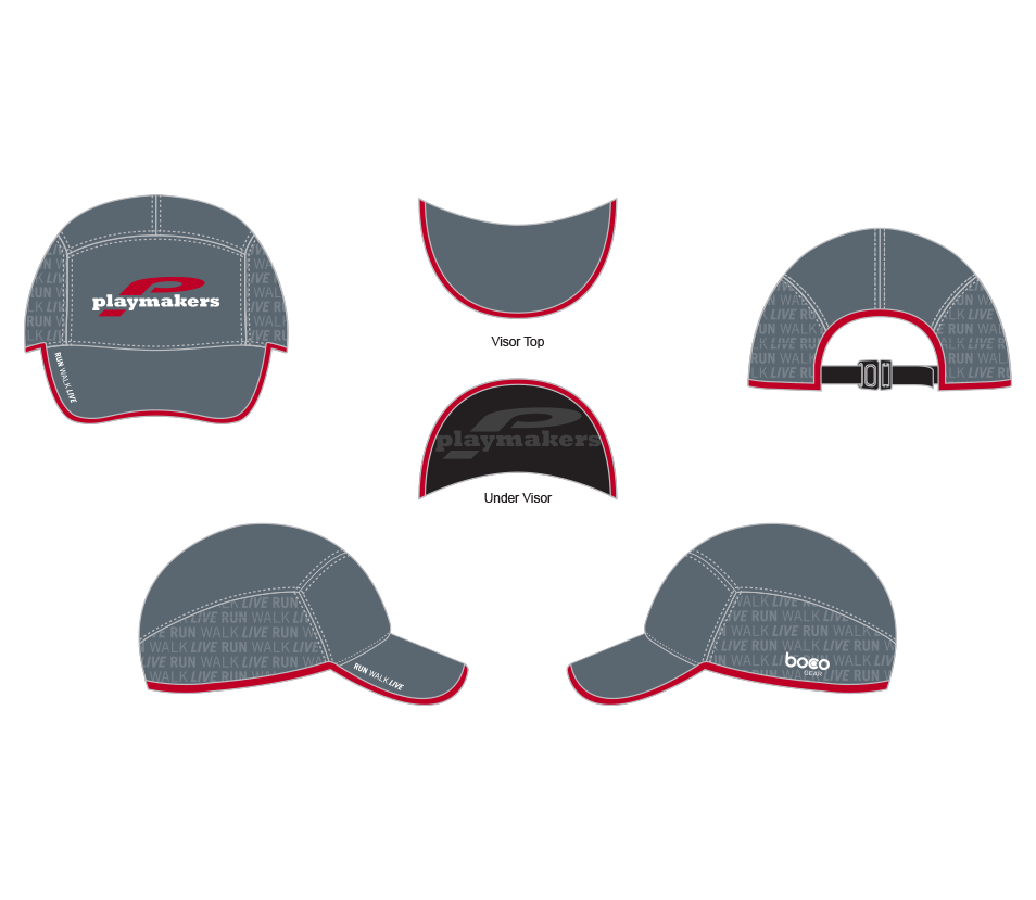 Playmakers Run Hat Grey/Red