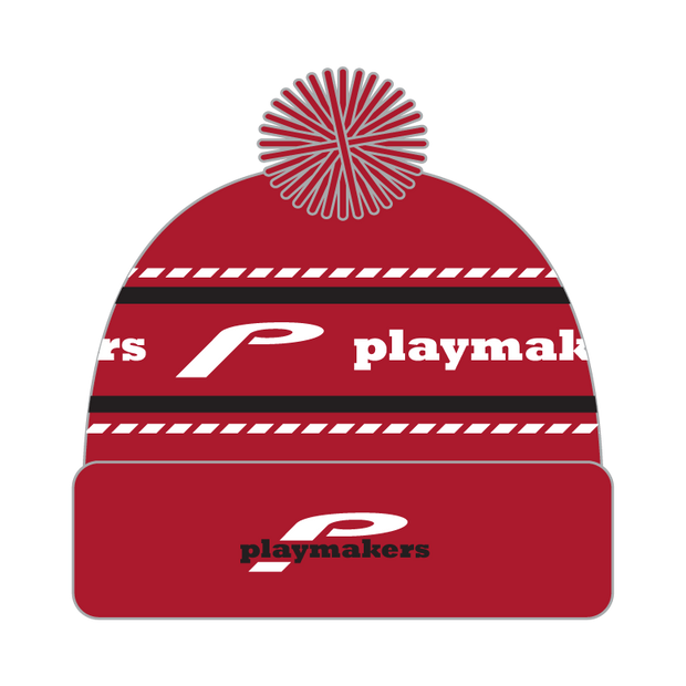 Playmakers Pom Pom Beanie (Red)