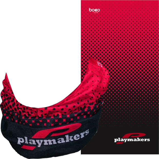 Playmakers Neck Gaiter Red/Black