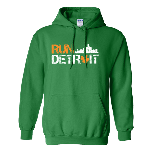 Run Detroit Hooded Sweatshirt Irish Green (Unisex)