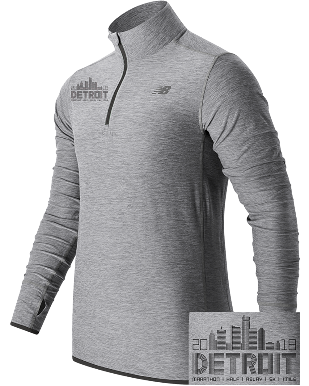 Detroit 2018 Skyline 1/4 Zip (Men)
