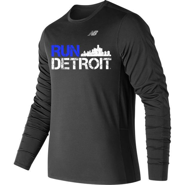 Run Detroit Accelerate Long Sleeve BK (Men)