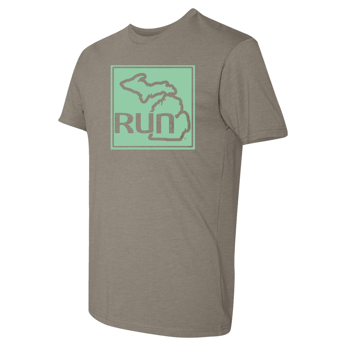 Run the Mitt Short Sleeve Warm Grey Sea Foam