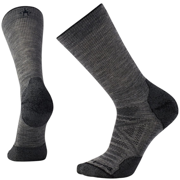 PhD® Outdoor Light Crew Socks Medium Gray (Men)