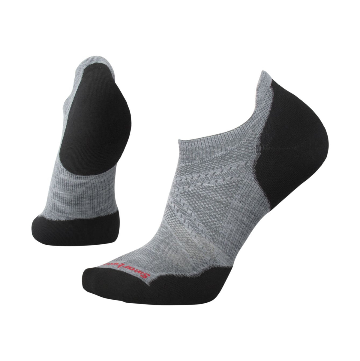 PhD® Run Light Elite Micro Socks Light Gray/Black (Men)