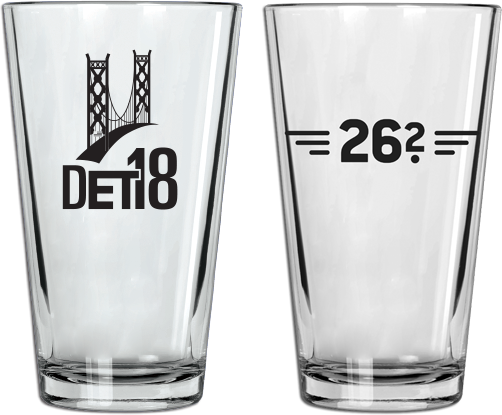 2018 Detroit Pint Glass (13.1 & 26.2)