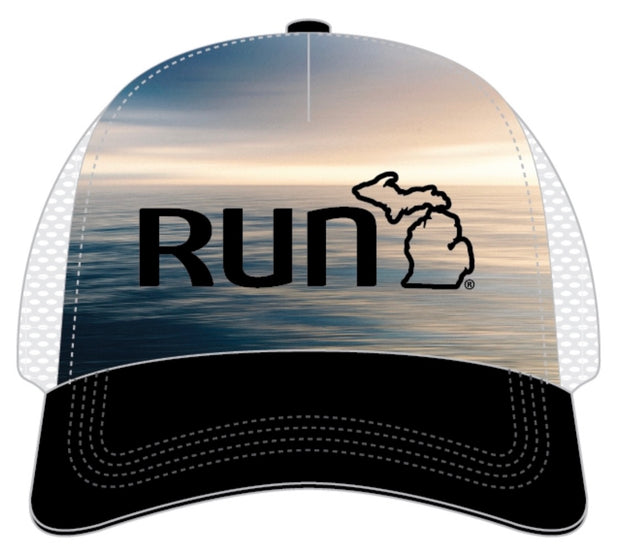 Run the Mitt Trucker Hat Lake Scene