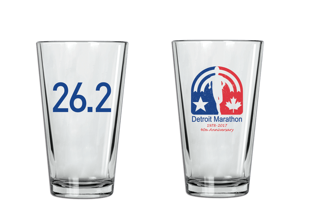 2017 Pint Glass 40th Logo -