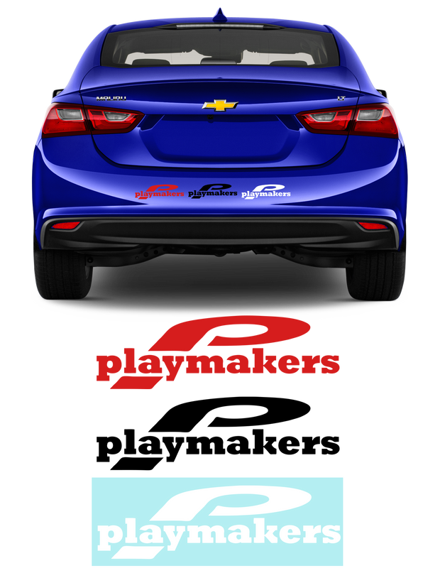 Playmakers Car Decal (3 Styles)