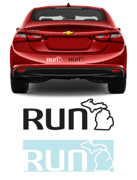 Run Michigan Sticker