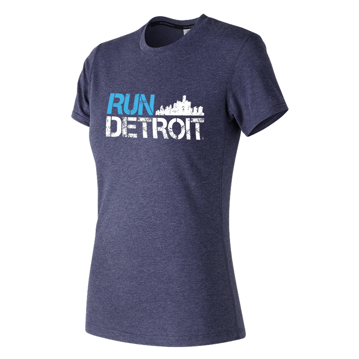 Run Detroit Short Sleeve BL/WT (Women)