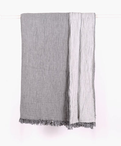 Cotton Grey Throw - T.Karn Imports