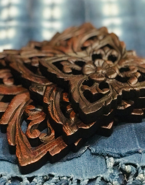 Teak Wall Carvings - T.Karn Imports