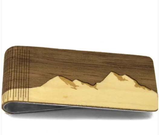 Wooden Mountain Money Clip