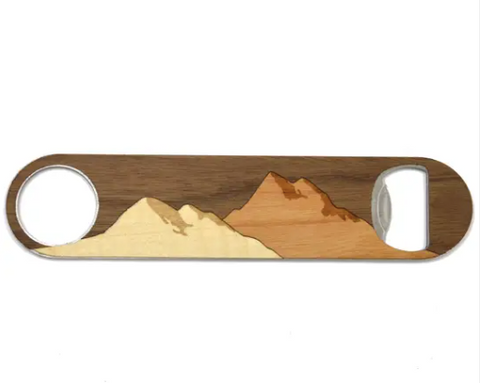 Wooden Mountain Bottle Opener