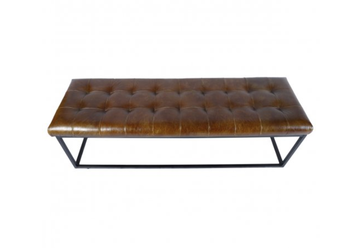 Leather Iron Bench