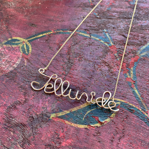 Telluride Script Necklace - T.Karn Imports