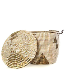 Tribal Lidded Basket - T.Karn Imports