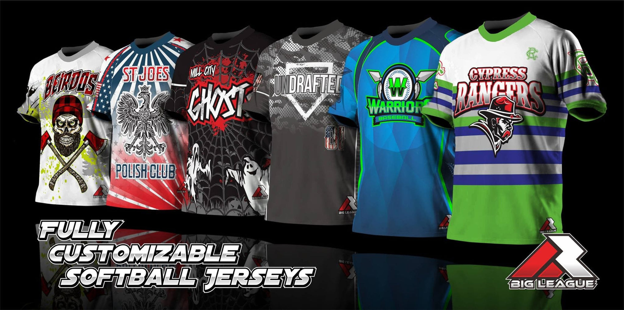 Big League Shirts Custom Sports Jerseys Full Dye Sublimation